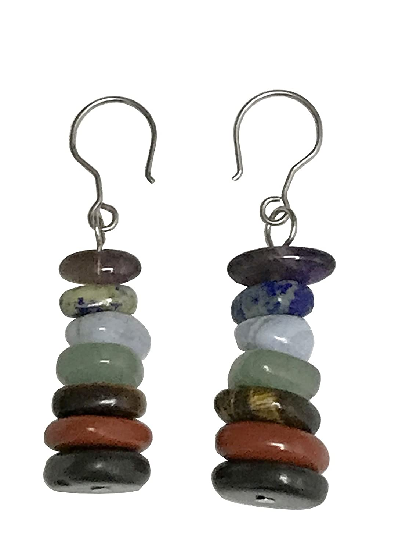 7 Stones Chakra Earrings