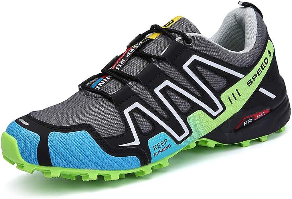 Zapatillas Trekking Hombre Zapatillas Senderismo Transpirable Antideslizante Al Aire Libre Zapatillas de Deporte Verde 42: Amazon.es: Zapatos y complementos