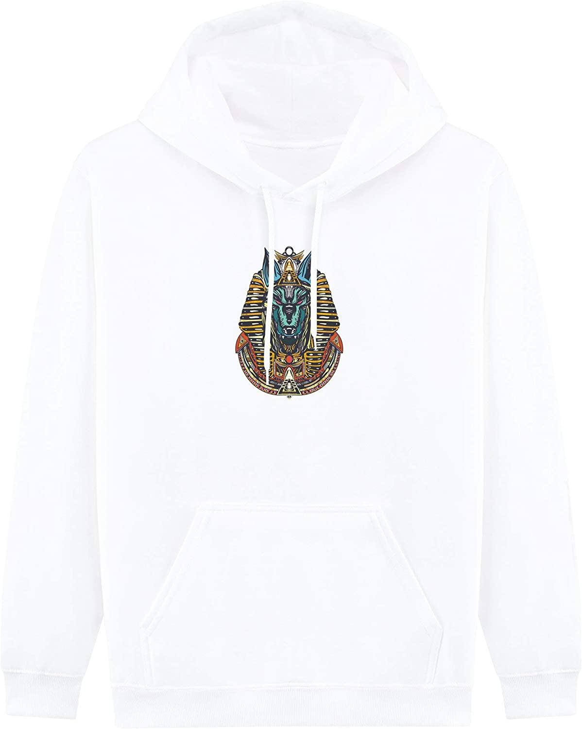 Five Four Unisex Adult Printed Plush Hooded Sweatshirt,Comfortable Style