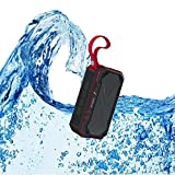 Bluetooth Speaker,WONFAST IPX7 Waterproof Bluetooth4.1 Portable Mini Outdoor Sport Wireless speaker,5W Dual Voice coil Stereo Built-in Mic,Support FM Radio/TF Card/Audio Input(Red)
