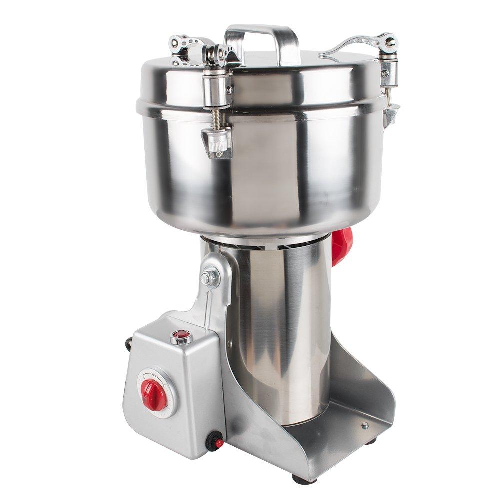 Denshine Electric Grain Grinder 1000g Herbal Medicine Grinder Stainless Steel Mill Powder Machine Medicine Pulverizer Milling Machine 29000 rpm Herb Spice Cereal Coffee Pearl Powder Grinder