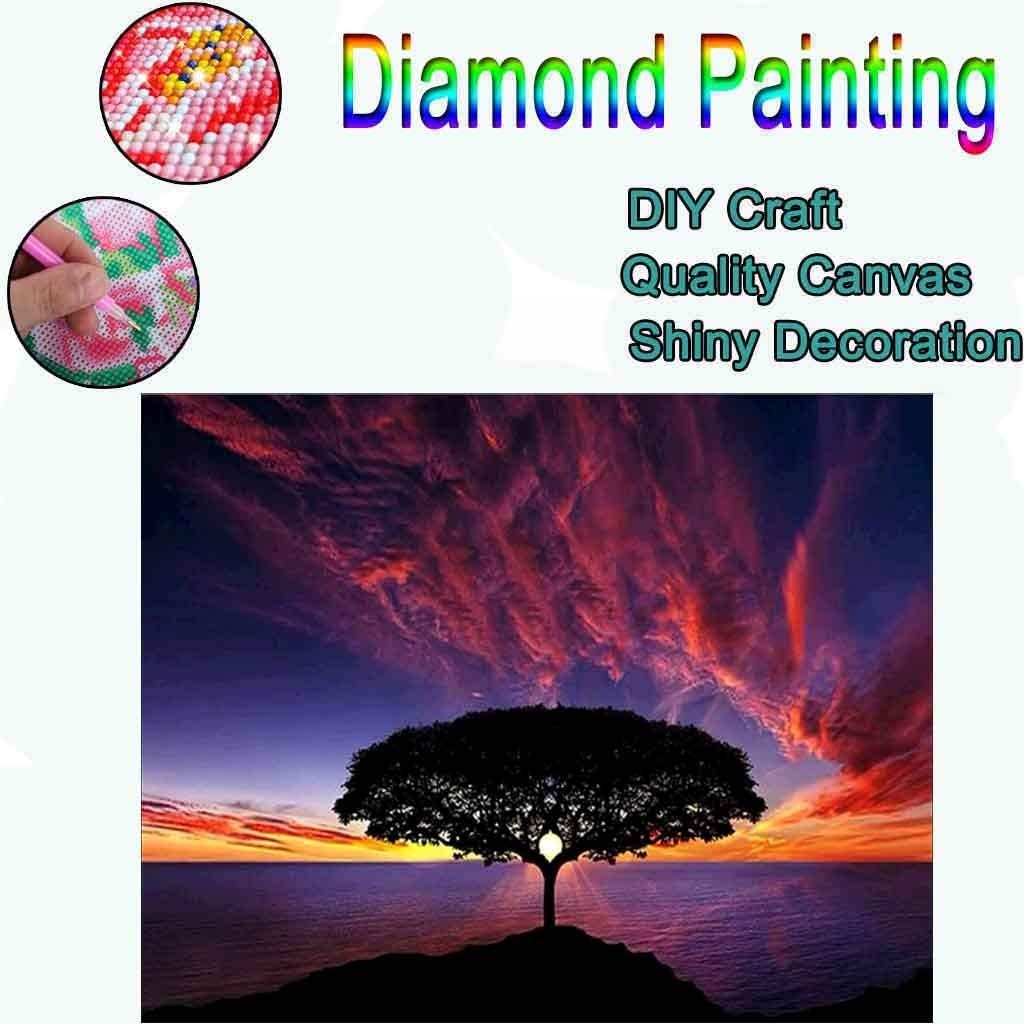 Fantasy Tree 5D Diamond Painting,Frameless Rhinestone Painting Drill Cross-Stitch by Numbers Embroidery Cross Stitch for Home Wall Decor