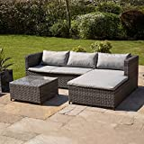 Kingfisher RSET1 KD Rattan Sofa Set - Grey (3-Piece)