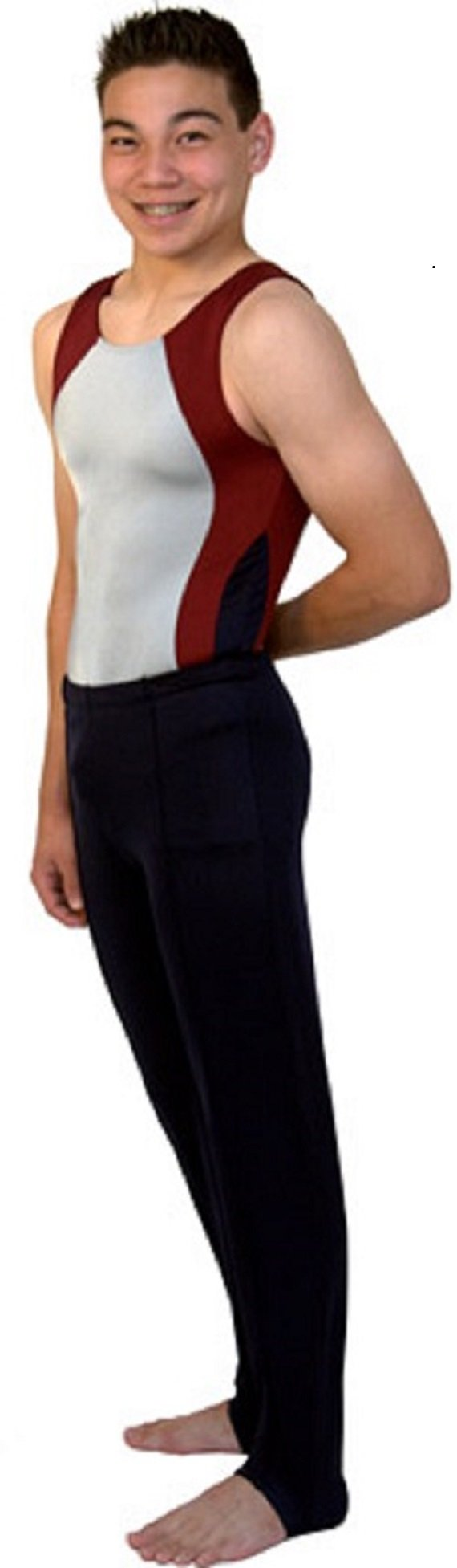 Snowflake Designs Navy Blue Boys and Mens Gymnastics Stirrup Pants(Child Small) by Snowflake Designs