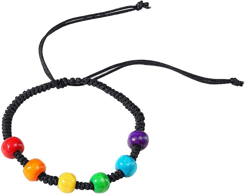 Pride Rainbow Unisex Lederarmband Gay Pride Schmuck Lesbian Bisexual Bangle√