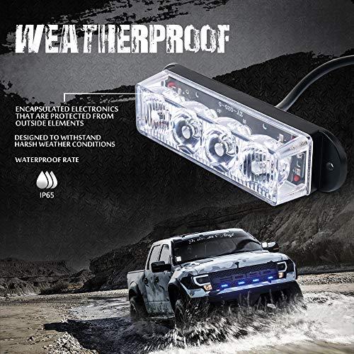 hot sale Xprite Blue 4 LED 4 Watt Emergency Vehicle