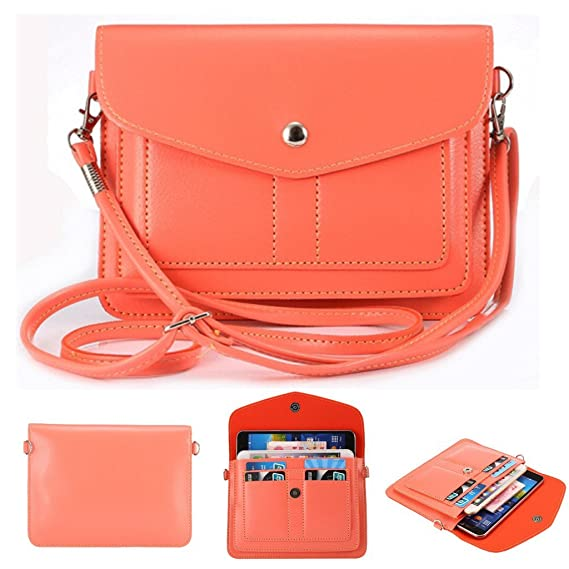 official photos de906 82950 Universal Soft PU Leather Cell Phone Bag Purse Case Cross Body Wallet Pouch  with Shoulder Strap & ID Cards Holders for Carrying iPhone6s/6s plus/6/6 ...
