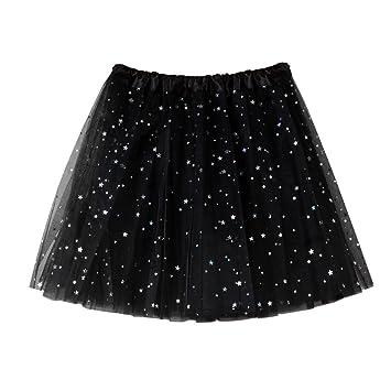 799b3c696a LuckyGirls Faldas de Baile de Mujer Tul con Estrella Casual Partido  Vestidos de Fiesta Mini (Talla Única