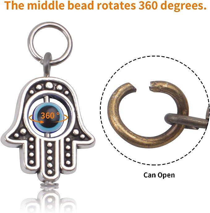 50 Wholesale Lot 10 100 Pces New Assorted Evil Eye Hamsa Charm Keychains 30