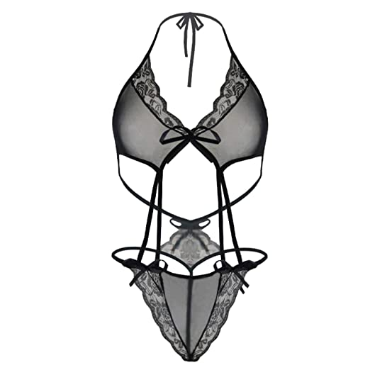 454d7543e5a7 2018 Transparent Babydoll Sexy Teddy Lingerie fantasias Women's Erotic  Underwear Black Lace Intimate Porn Sexy Costumes