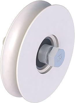 Rueda para bodengeführte puertas correderas (con perno 100 mm Nut 20 mm de diámetro: Amazon.es: Bricolaje y herramientas