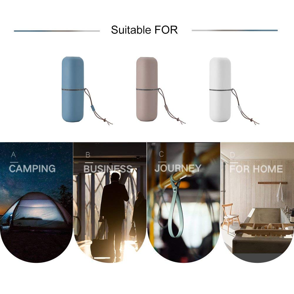 Toothbrush Travel Cup Multifunction /& Carrier for Bathroom School Business Trip