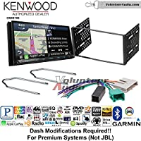 Volunteer Audio Kenwood DNX874S Double Din Radio Install Kit with GPS Navigation Apple CarPlay Android Auto Fits 1995-1997 Ford Explorer, Ford Ranger, Lincoln Town Car