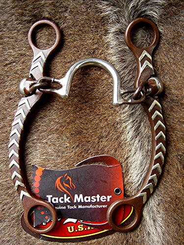 Tackmaster Silver Engraved Sweet Iron Horse Correction Bit 5 1/4