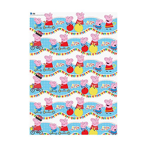 Peppa Pig Rouleau De Papier Cadeau Longueur 4 M Durable
