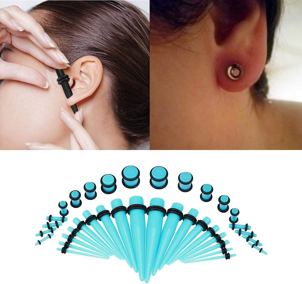 20mm O/'Ring Acrylic Solid Earring Saddle Stretcher Expander Ear Plugs 1pc 1.6mm