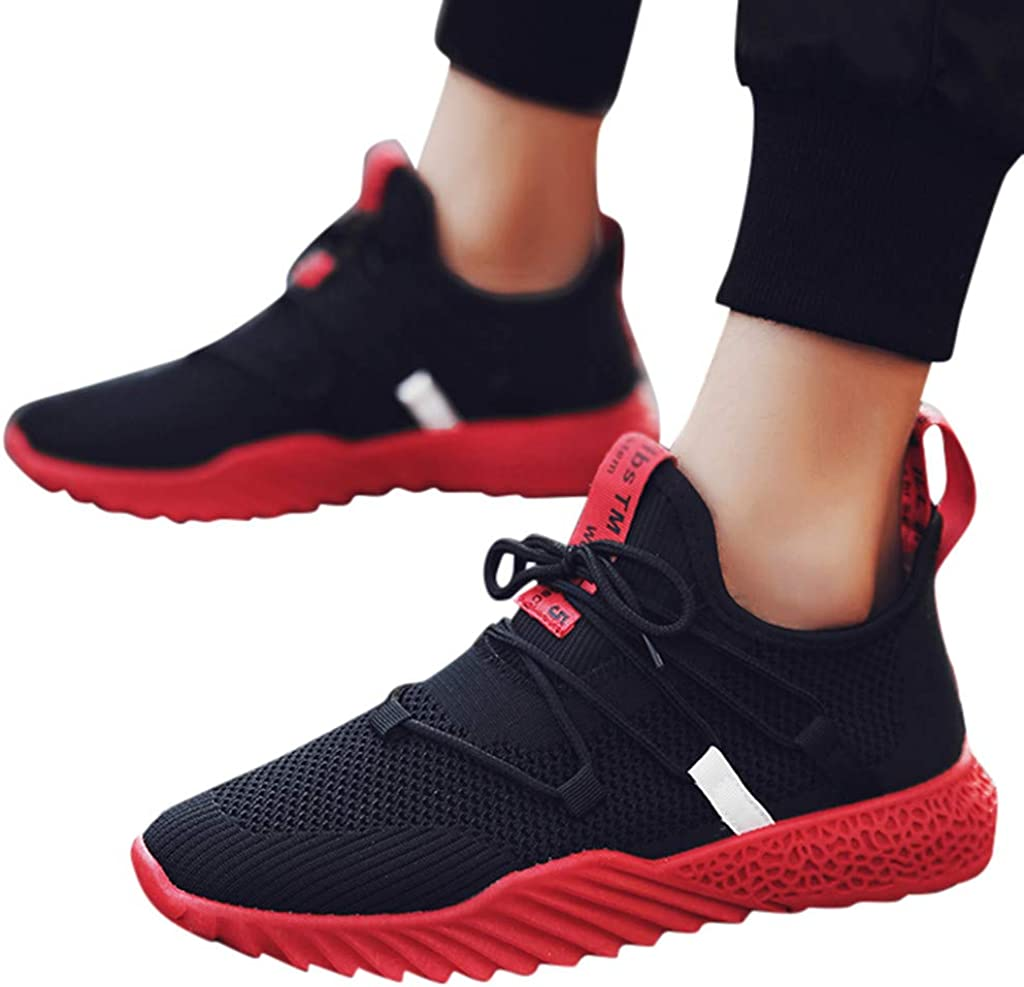 Men Running Shoes Casual Mesh Breathable Trail Lightweight Tennis Sport Walking Athletic Sneakers