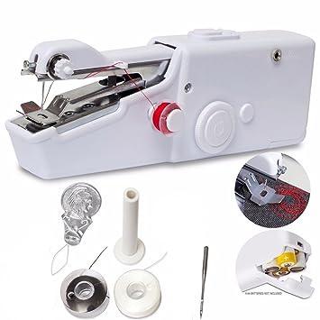 Handheld Sewing Machine Muttiy Simple Quick Handy Stitch Portable Adorable Handy Stitch Hand Sewing Machine