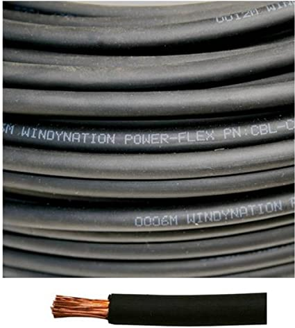 25 FEET OF EACH COLOR Black /& Red - Welding//Battery Cable 1//0 Gauge AWG