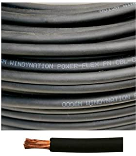 8 Gauge 8 AWG 40 Feet Black Welding Battery Pure Copper Flexible Cable Wire --