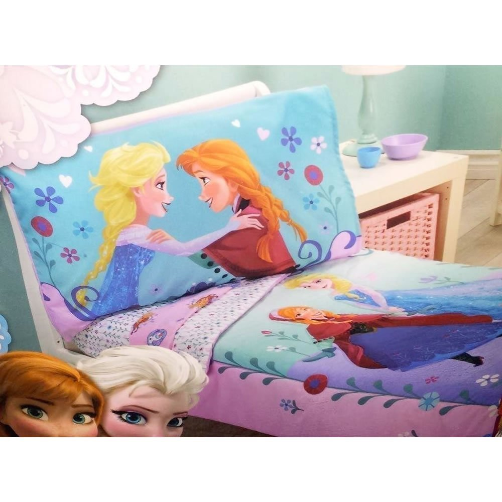 Fitted Sheet and Pillowcase Disney Frozen II 3 PC Toddler Bedding Set-Comforter