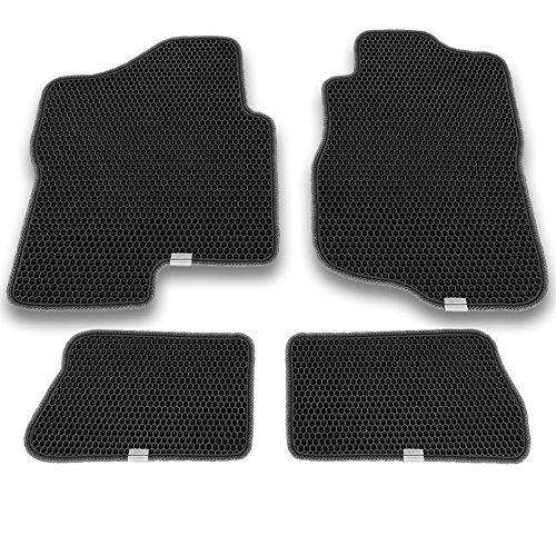 Motliner Floor Mats, Custom Fit with Dual Layered Honeycomb Design for Chevrolet Silverado 1500 2500 3500 Extended Cab GMC Sierra Extended Cab 2007-2013. All Weather Heavy Duty Protection. (Duty Heavy Extended Gmc Cab)