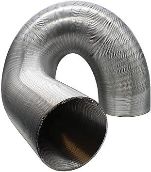 Kair Manguera de aluminio semirrígida para ventiladores, campanas de cocina y ventilación, plateado: Amazon.es: Bricolaje y herramientas