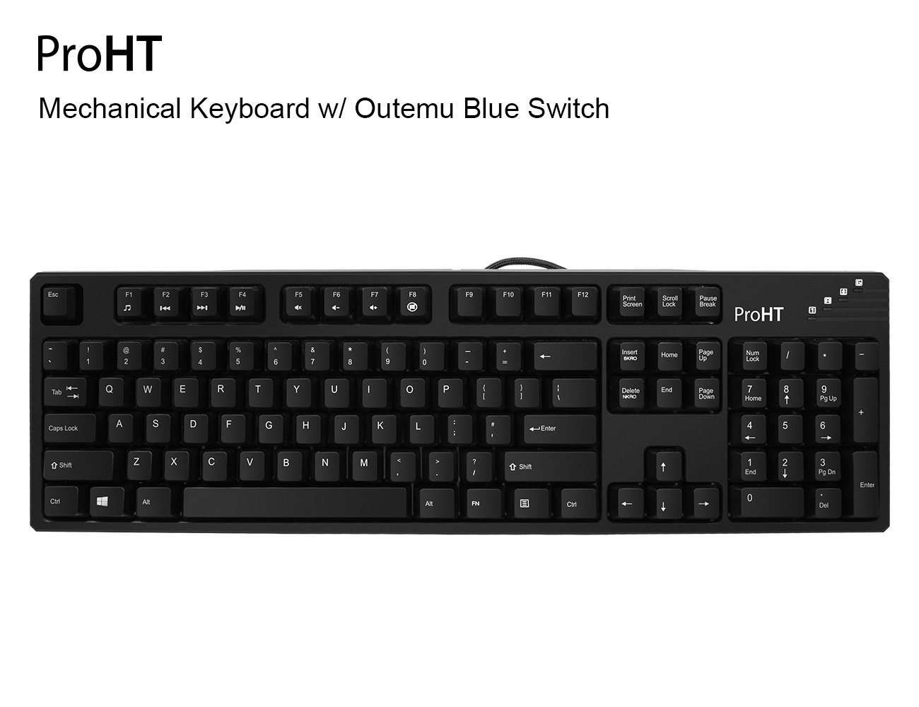 Teclado Mecanico : Inland 104 Keys con Blue Switch 70012