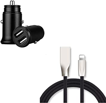 Shot Case Pack Cargador Lightning para iPhone 11 Pro MAX (Carga rápida y Mini Toma de mechero USB) Apple iOS (Negro): Amazon.es: Electrónica