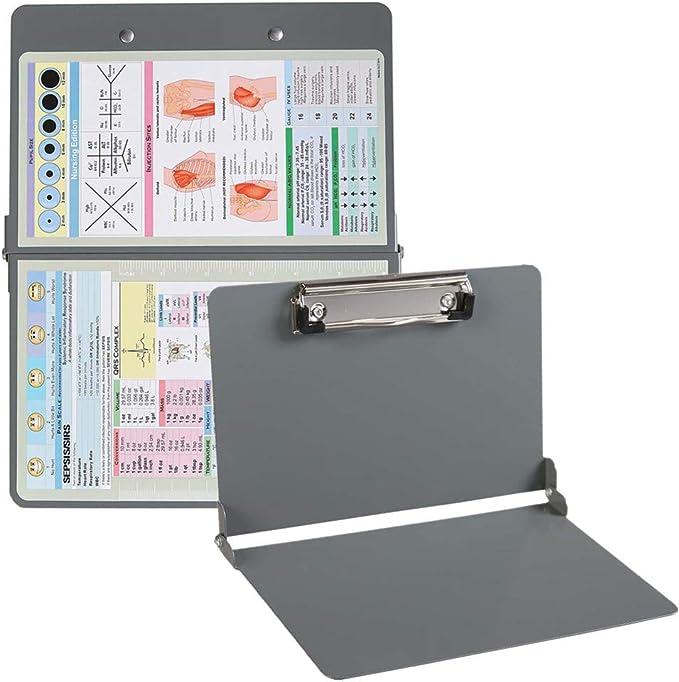Amazon.com : Nursing Clipboard Grey Mini Metal Clipboard with Generous Storage, Folding Clipboard for Nurses, Doctors, Medical Students : Office Products