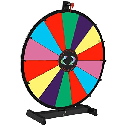 Amazon Com Lemy 24 Round Color Spinning Prize Wheel Spin
