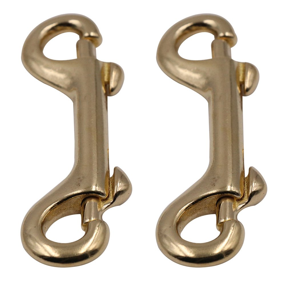 UKCOCO 2 Pack Scuba Diving Double Ended Brass Trigger Clips Snap Hook for Bag Key Keychain Luggage Strap 90mm by UKCOCO