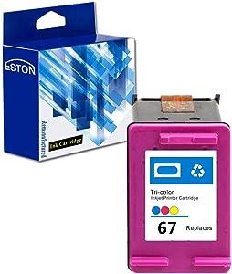 ESTON Remanufactured Replacements for HP 67 Tri-Color Ink Cartridges, 1 Cartridges (N9J92AN) for HP Envy Photo 6052 6055 6058, Envy Pro 6420 6452 6455 6458