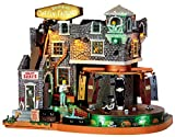 Lemax Spooky Town Box-Of-Bones Coffin Factory with Adaptor # 45669