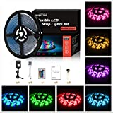 Led Strip Lights 5M/16.4 Ft SMD 2835 RGB 300 LED Color Changing Kit Waterproof, LED Ribbon for Home/Kitchen Lighting Strips Power Adapter Included