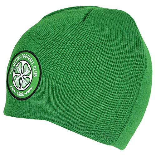 Celtic FC Basic – Gorro de punto de invierno con Club Escudo Celtic (Green)