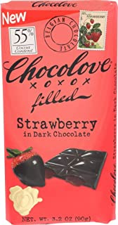 product image for CHOCOLOVE Strawberry Filled Dark Chocolate Bar, 3.2 Ounce