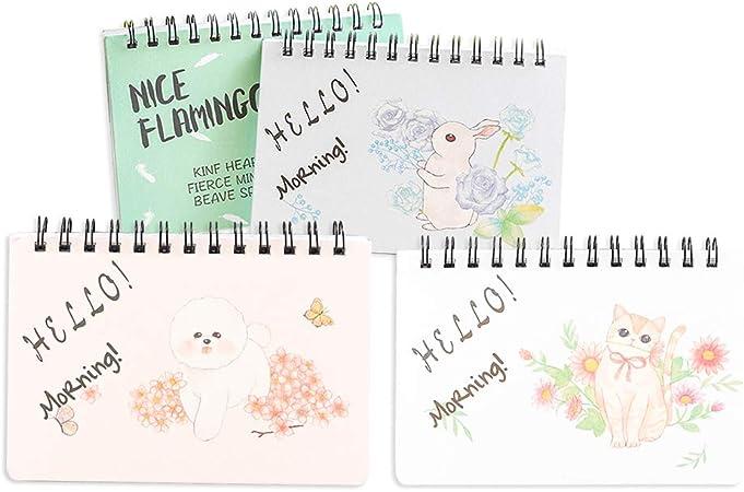 YeahiBaby - Pack de 4 Mini Cuadernos de Notas portátiles para Escuela, Oficina, etc.: Amazon.es: Hogar