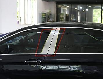Decoración exterior de aleación de aluminio para ventana, marco de decoración para postes de 5 series F10 520li~525li530 535li2011-2017: Amazon.es: Coche y ...
