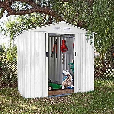 Catral Garden CASETA METÁLICA Tools Ibiza High Door, Blanco: Amazon.es: Jardín