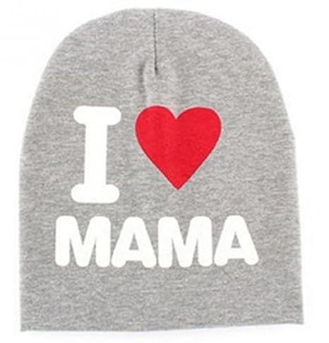 (Grigio) Cappellino Per Bambini Neonati Berretto Con Scritta  quot  I love  Mamma quot  d96535469924