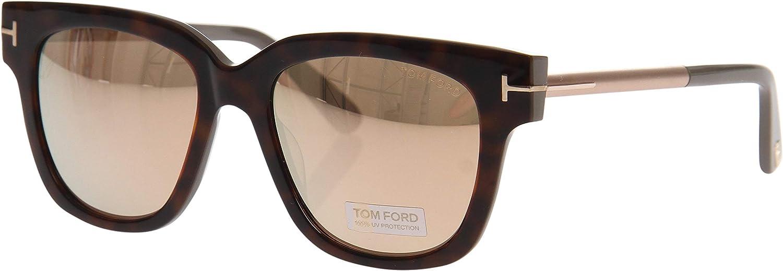 Brand New Tom Ford Eyewear shinny black Square Acetate Tracy 01C sunglass TF436