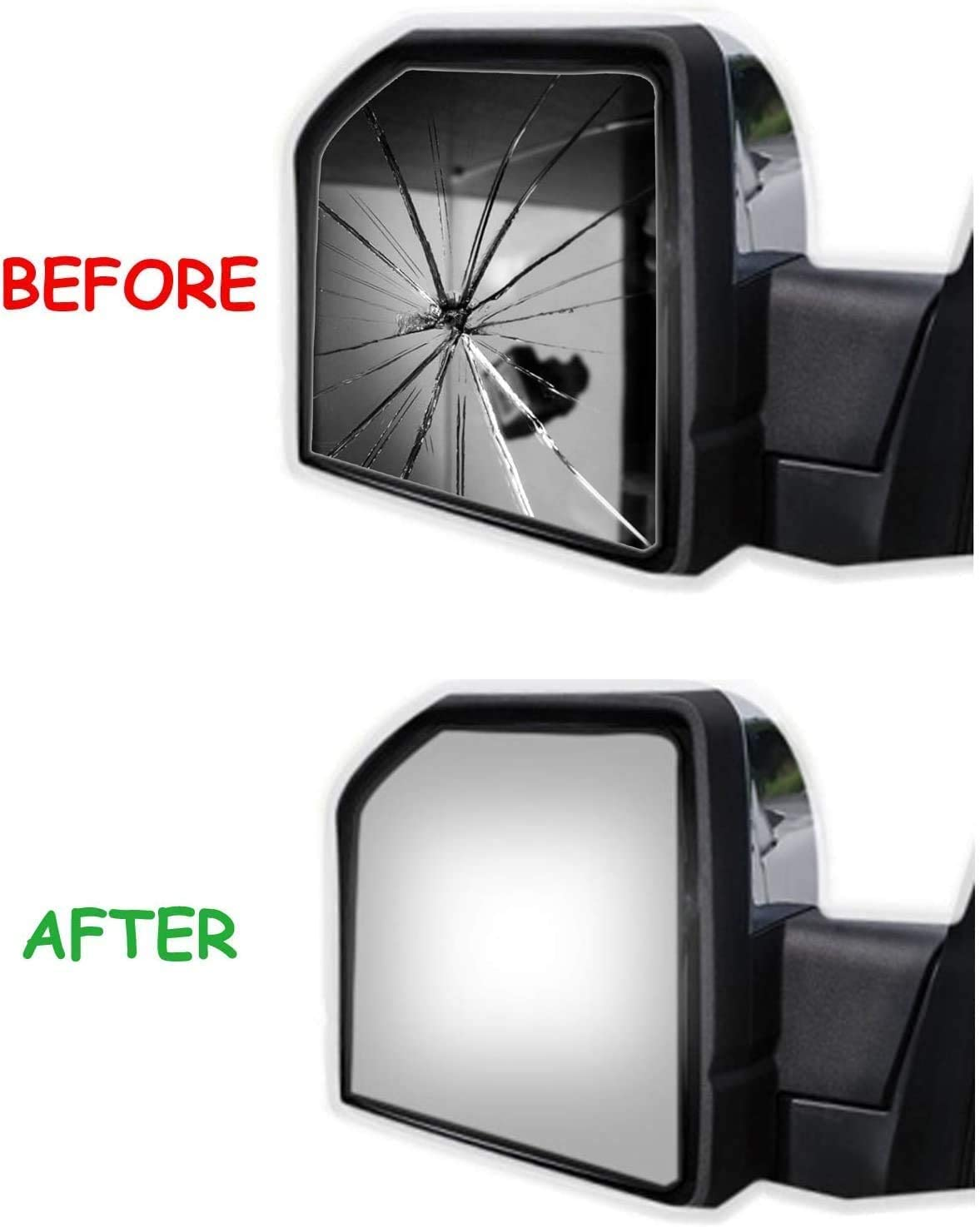 WLLW Side Mirror Replacement Glass for 02-08 Dodge Ram 1500 Driver Side 2500 3500 Van 4000