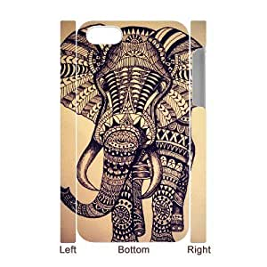 ALICASE Diy 3D Protection Hard Case Elephant Aztec Tribal For Iphone 6 (4.5) [Pattern-1]