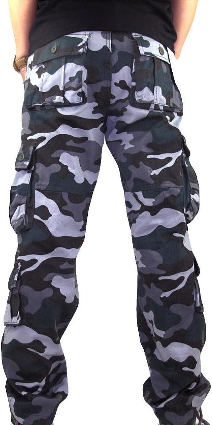 YYear Women Camouflage Elastic Waist Fleece Sport Straight Leg Pants