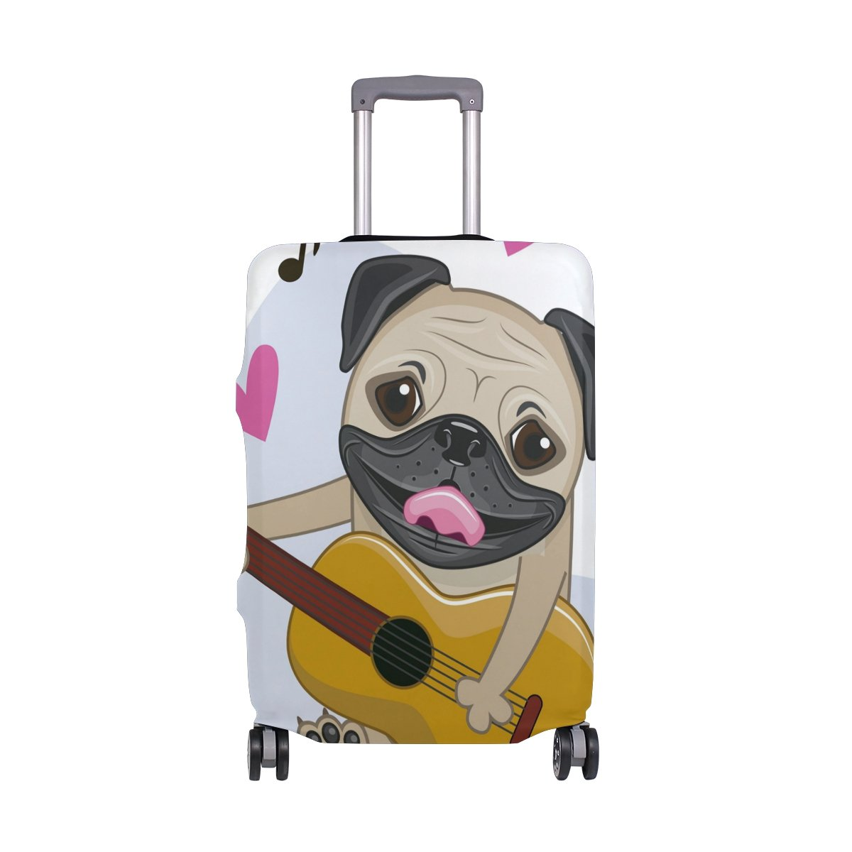 Cute Dog Puppy Music Hearts Love Suitcase Luggage Cover Protector for Travel Kids Men Women by ALAZA (Image #1)