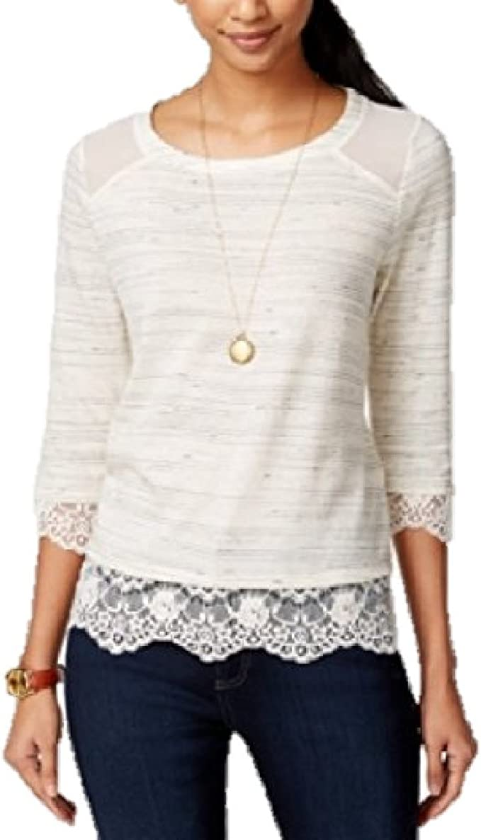 maison Jules Womens button down Off the Shoulder Blouse