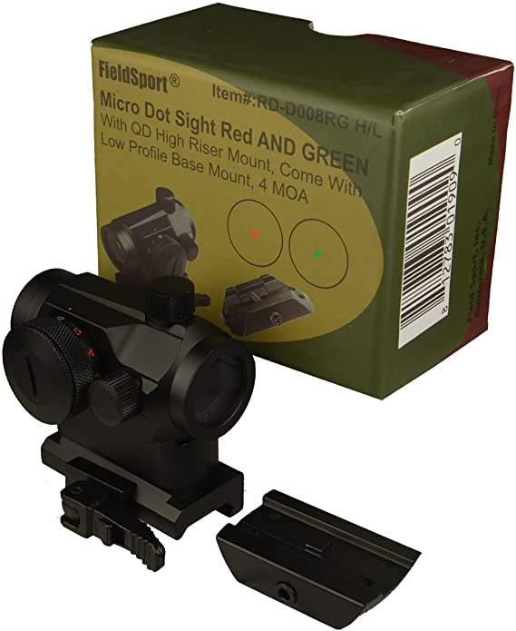 FSI FieldSport Micro Red and Green Dot Sight with QD Riser Mount