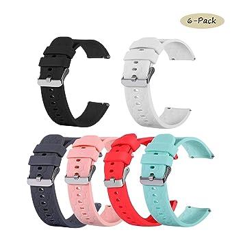 tencloud correas Compatible con Amazfit GTR 47mm Correas de Reloj, Suave Silicona Sport Pulseras Brazo Bandas Compatible con Amazfit GTR Smartwatch