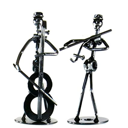 Para violonchelo acústica guitarra trombón Trompeta clarinete guitarra eléctrica Violín Saxofón metal Metal Figura decorativa juego